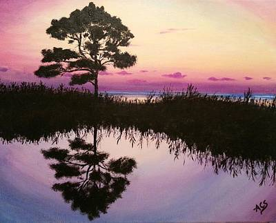Painting - Sunset Reflection by Amelie Simmons