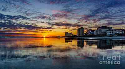 Photograph - Sunset Reflection by David Smith