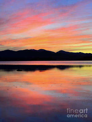 Photograph - Painted Reflection Lake Champlain by Third Eye Perspectives Photographic Fine Art