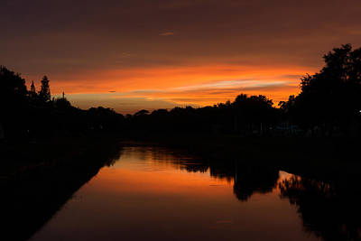 Photograph - Sunset Reflection by Mike Sperduto
