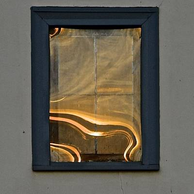 Photograph - Sunset Reflection On Small Window by Tana Reiff