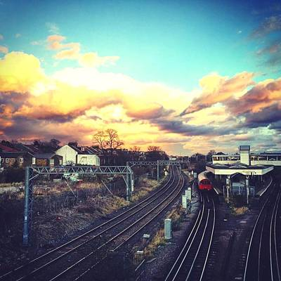 Photograph - Sunset Reflection Over The Junction by Steve Swindells