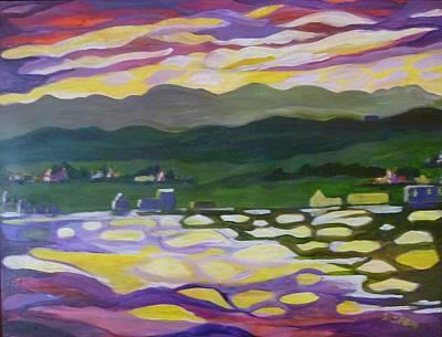 Sunset Reflection Art Print by Saga Sabin