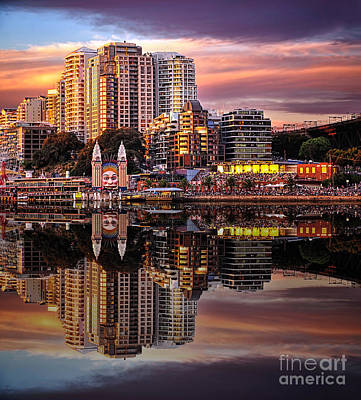 Sunset Reflections 2 - Luna Park By Kaye Menner Art Print by Kaye Menner