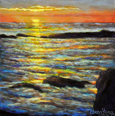 Painting - Sunset Reflections 4 by Eileen  Fong