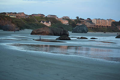 Photograph - Sunset Reflections At Bandon Beach by Michele Avanti