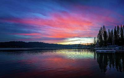 Photograph - Sunset Reflections At Bass Lake by Lynn Bauer