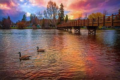 Photograph - Sunset Reflections At Drake Park by Lynn Bauer