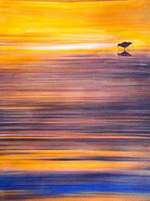Resilience Painting - Sunset Reflections by Cara Frafjord