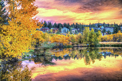 Photograph - Sunset Reflections In Mammoth Lakes by Lynn Bauer