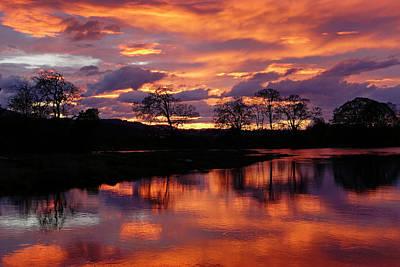 Photograph - Sunset Reflections by Inge Riis McDonald