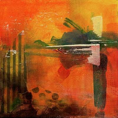 Wall Art - Painting - Sunset Reflections by Jeanne Byron