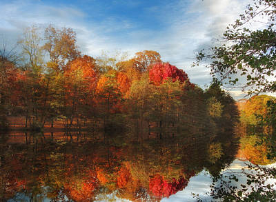 Autumn Foliage Photograph - Sunset Reflections by Jessica Jenney