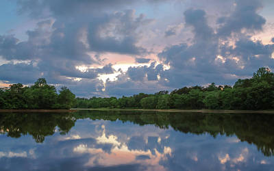 Photograph - Sunset Reflections by Lori Coleman