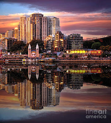 Photograph - Sunset Reflections - Luna Park By Kaye Menner by Kaye Menner