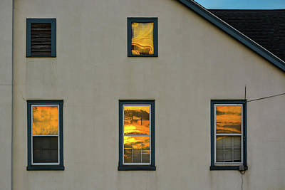Photograph - Sunset Reflections On Chapel by Tana Reiff