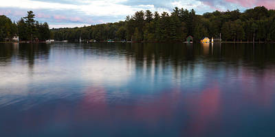 Photograph - Sunset Reflections On Old Forge Pond by David Patterson
