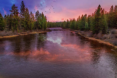 Photograph - Sunset Reflections On The Deschutes River by Lynn Bauer