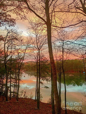 Photograph - Sunset Reflections by Susan Leggett