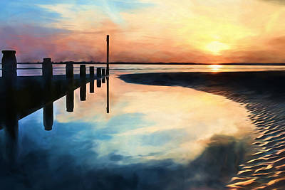 Photograph - Sunset Reflections by Trevor Wintle