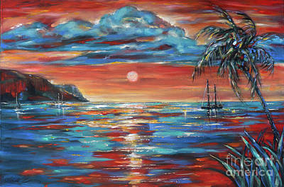 Painting - Sunset Repose St Kitts by Linda Olsen