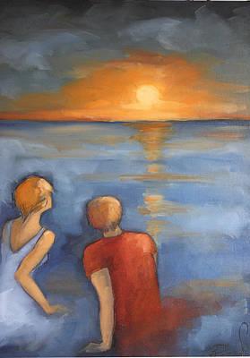 Sunset Original by Rezan Ozger