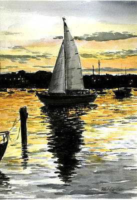 Cape Cod Painting - Sunset Ride by Paul Gardner