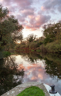 Photograph - Sunset, River Nene by Nick Atkin