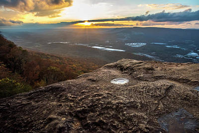 Photograph - Sunset Rock Overlook by Andy Crawford