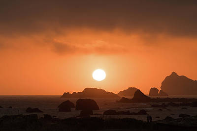 Photograph - Sunset Rocks Crescent City California by Lawrence S Richardson Jr