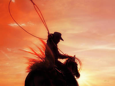 Photograph - Sunset Roper by Amanda Smith