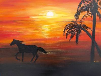 Painting - Sunset Run by Aleta Parks