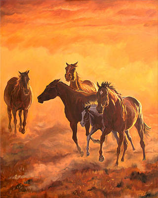 Painting - Sunset Run by Jana Goode