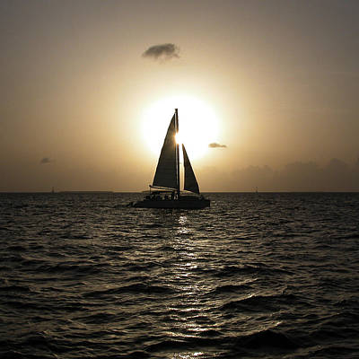 Sunset Sail - Key West Art Print