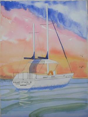 Sunset Sail 2 Art Print by Warren Thompson