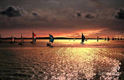 Photograph - Sunset Sail - Bermuda by Judy Palkimas