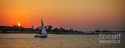 Grapevine Photograph - Sunset Sail by Charles Dobbs