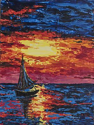 Painting - Sunset Sail by Darice Machel McGuire