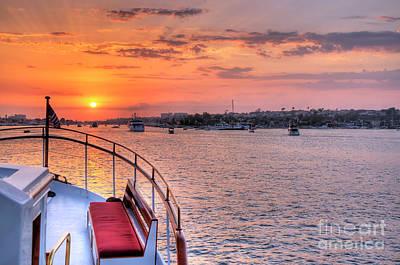 Photograph - Sunset Sail by Eddie Yerkish