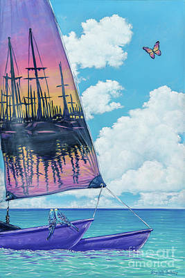 Painting - Sunset Sail by Elisabeth Sullivan