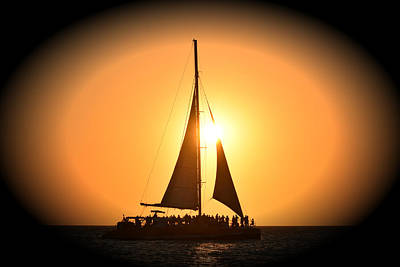 Photograph - Sunset Sail by Gary Smith