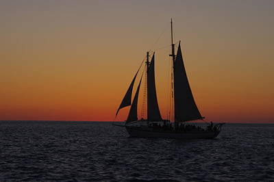 Photograph - Sunset Sail by Greg Graham