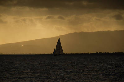 Photograph - Sunset Sail Horizontal by Debby Richards