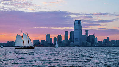 Photograph - Sunset Sail - Hudson River by Frank Mari