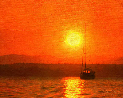 Photograph - Sunset Sail by Nancy Morgantini
