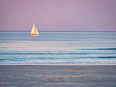 Photograph - Sunset Sail - Ogunquit -maine by Steven Ralser
