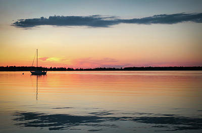 Photograph - Sunset Sail On Calm Waters by Kelly Hazel