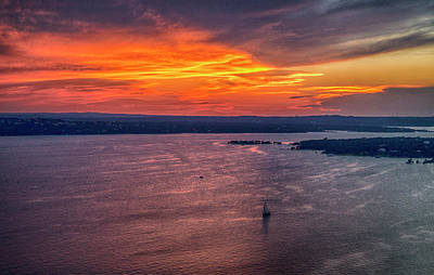 Sunset Sail On Lake Travis Art Print