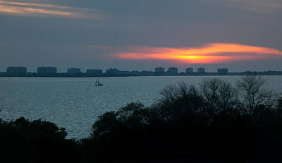 Sunset Sail On Sarasota Bay Art Print