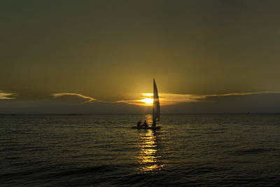 Photograph - Sunset Sail by Pete Federico